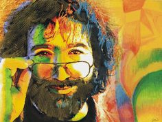 Jerry Garcia Portrait Blanket