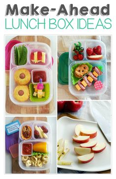 Make-Ahead Lunchbox Ideas and Tips ('cause I'd rather sleep in a few extra minutes instead of making lunches!)