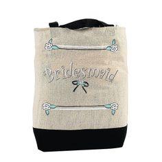 """Bridesmaid"" Tote Bag - OrientalTrading.com"