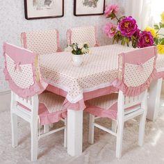 Barato Toalhas de mesa toalha de mesa de algodão xadrez idílico hotel cadeira de…