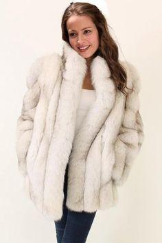White Fox, Blue And White, Sexy Women, Women Wear, Fur Fashion, Fashion Vintage, Fox Fur, Furs, Goddesses