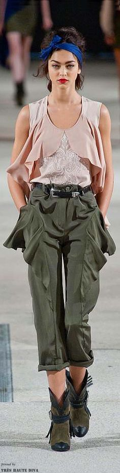 Like the layered tanks and frilled pants...could be a diy or refashion! Paris FW Alexis Mabile S/S 14 RTW