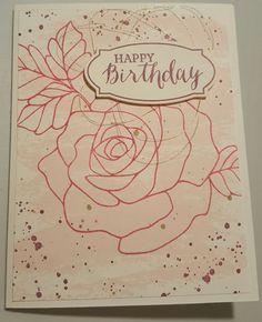 Watercolored Rose Wonder Birthday