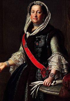 1755 Queen Maria Josepha, Wife of King Augustus III of Poland