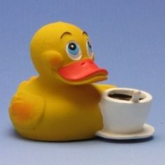 Seems like a good way to add a smile to the morning...A Rubber Ducky,  and a cup of coffee...