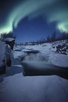 Northern lights, Björkliden, Swedish Lapland