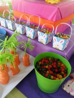 Cute treats at an Easter party!  See more party ideas at CatchMyParty.com!