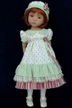 *Spring Mint* 4 piece ensemble by VSO for Effner Little Darling Doll