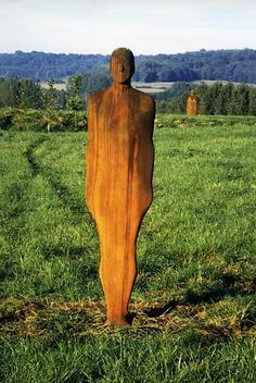 Anthony Gormley - 'Passage', 2000  Cast iron, Two sculptures, each 197 x 48 x 26 cm  Permanent installation Caumont, Picardy, France