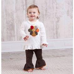 Turkey Tunic and Leggings (0-6) by Mud Pie   Mud Pie Baby