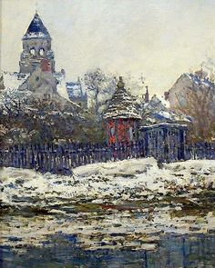 Claude Monet (French, 1840-1926) - Church of Vetheuil, 1879