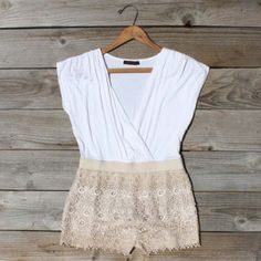 Tucked Lace Romper, Sweet Women's Country Clothing - The Tres Chic Look Fashion, Fashion Outfits, Cool Outfits, Summer Outfits, Summer Clothes, Country Outfits, Lace Romper, Spring Summer Fashion, Summer Wear