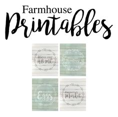 Free farmhouse style printables - I love that they come in two colors!