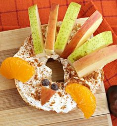 Turkey isn't just for Thanksgiving dinner! Whip up these super cute Thanksgiving Turkey Bagels for breakfast. And the best part? They are so easy that you can let the kids make their own!
