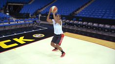 Features pro-tested basketball shooting drills that will make you more accurate. The shooting drills collected here come directly from NBA players and their coaches. Basketball Shooting Drills, Basketball Workouts, Basketball Court, Skylar Diggins, Upper Body, Exercise, Train, Sports, School