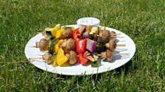 Szaszłyki warzywne Grill Party, Tzatziki, Hummus, Dip, Grilling, Cheese, Recipes, Food, Salsa