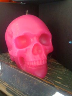 Pink Candle Pink Candles, Best Candles, Voodoo, Pinky Swear, Skull Candle, Pink Skull, Art And Craft Design, Candels, Skull And Bones