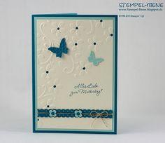 Prägeform Blumenranke, Embosslits Schmetterlingsgarten, Muttertagskarte