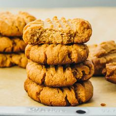 Learn how to make low carb/keto peanut butter cookies from scratch! Only 4 ingredients and super easy, these are the best homemade PB cookies. Gluten free and flourless.