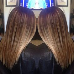 """So much lighter at the ends (and mine would be even darker at the crown), that this almost looks """"ombre"""" but is so much more natural with the HL's being blended in. Like!"""