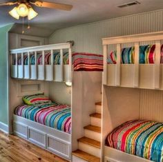 Great spare bedroom idea. Putting stylish modern bunkbeds leaves a convenient place for sleepovers, plus you can house more guests during the holidays.  #bedroom #holidays #family #sleepover #children #sparebedroom #bedroom #remax #remaxnova #halifaxrealtor #cohenmacinnis