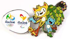 Pin dos Mascotes olímpico e Paralímpico Rio2016 - Vinicius e Tom