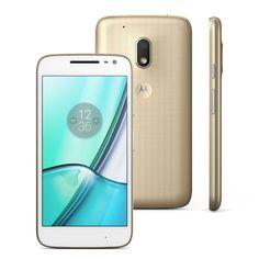 Smartphone Moto G4 Play DTV Colors XT1603 Dourado 16GB, Tela de 5'', Dual Chip, Câmera 8MP, 4G, TV, Android 6.0, Processador Quad-Core e 2GB de RAM