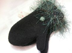 Custom Ordered  Fancy Felted Mittens Great by DesignsbyFredericka, $40.00