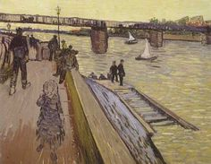 Vincent Van Gogh, The Trinquetaille Bridge in Arles Fine Art Reproduction Oil Painting