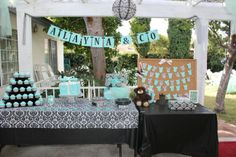 Tiffany & co. Inspired baby shower
