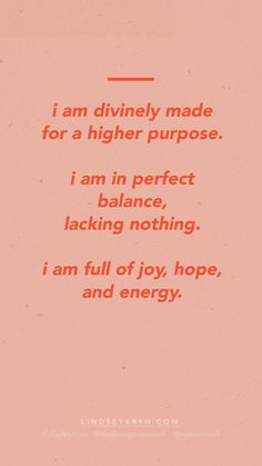 POSITIVE AFFIRMATIONS by Lindsey Eryn of The Daring Romantics. (IG: @lindseyeryn / @thedaringromantics)   __  positive affirmations, energy affirmations, meditations for beginners, quotes to live by, motivational quotes, inspirational quotes, inspirational affirmations, affirmations for entrepreneurs, affirmations for women, affirmations on purpose, affirmations on balance, affirmations on joy