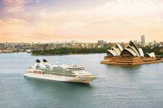 Seabourn Odyssey entering Sydney on a beautiful evening.