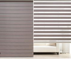 Style up your windows with Zebra Sheer Shades made of high quality polyster. Convenient-to-adjust shades maintain privacy with light filtering and room darkening options. House Blinds, Blinds For Windows, Curtains With Blinds, Shades For Windows, Window Blinds, Wood Blinds, Sheer Shades, Shades Blinds, Persiana Sheer Elegance