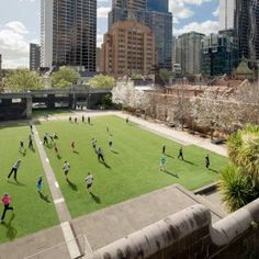 RMIT Urban Space by Peter Elliot Architecture and Urban Design