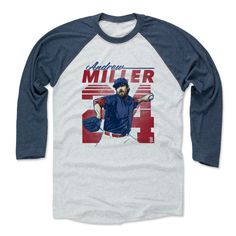Andrew Miller Retro R Cleveland MLBPA Officially Licensed Baseball T-Shirt Unisex S-3XL