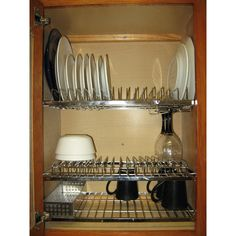 $109 Wayfair - Cabana In-cabinet Dish Drying and Storage Rack by Zojila