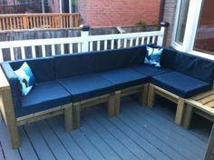 DIY Furniture : DIY Outdoor Sectional