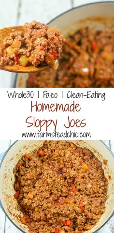 Paleo & Sloppy Joes Sweet, a tad spicy, rich, chunky and robust, these Paleo and Sloppy Joes are out of this world delicious + easy to make! The perfect weeknight meal! Whole 30 Diet, Paleo Whole 30, Whole 30 Recipes, Paleo Recipes, Real Food Recipes, Paleo Food, Disney Recipes, Disney Food, Detox Recipes