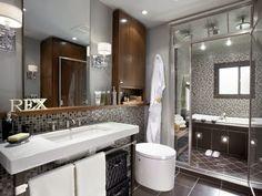 gri banyo dekorasyonu