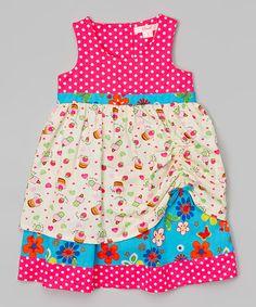 Another great find on #zulily! Blue & Pink Layered Dress - Toddler & Girls #zulilyfinds