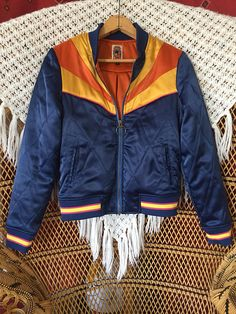 This Rising Sun Jacket is the latest quilted 70s inspired bomber jacket by Classic Rock Couture, looks like a 1970s ski jacket