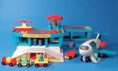 Fisher Price Little People Airport.  I use to have this when I was a kid.