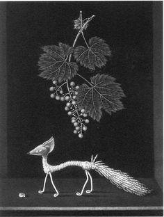 長谷川 潔の銅版画 - 「カラマツの下の花畑」・・・・♪