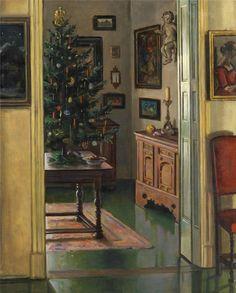 via Max Rimböck est un peintre allemand. Max Rimböck was a German linguistic communication painter. Retro Christmas Tree, Christmas Mood, Vintage Christmas Cards, Christmas And New Year, German Christmas, Koloman Moser, Christmas Drawing, Christmas Paintings, Norman Rockwell