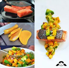 Whole30 Day 8: Mango + Avocado Salsa on Pan-Seared Salmon - Nom Nom Paleo®