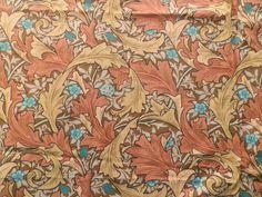 Vintage Sanderson William Morris Cotton Fabric Brown 'Granville Minor' Panel in Collectables, Sewing/ Fabric/ Textiles, Fabric/ Textiles | eBay