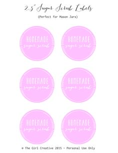 Hand Scrub, Diy Scrub, Printable Labels, Printables, Labels Free, Printable Stickers, Homemade Beauty, Homemade Gifts, Diy Beauty