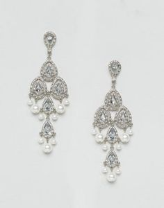 ASOS WEDDING Statement Chandelier Earrings