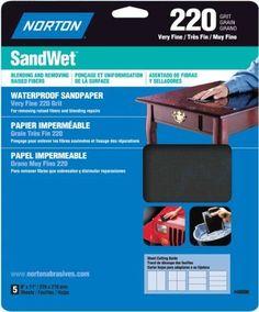 $7.61 - Norton 48090 Sand Wet Sandpaper 220 Grit, 9-Inch X 11-Inch, 5-Pack #ebay #Home & Garden