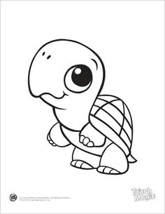 Turtle On Top Of A Coloring Page